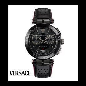 Versace Aion Chronograph Leather Watch ♠️